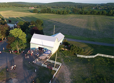 Aerial photography and video for weddings